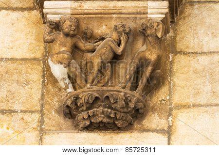 Gothic sculture in Dubrovnik.