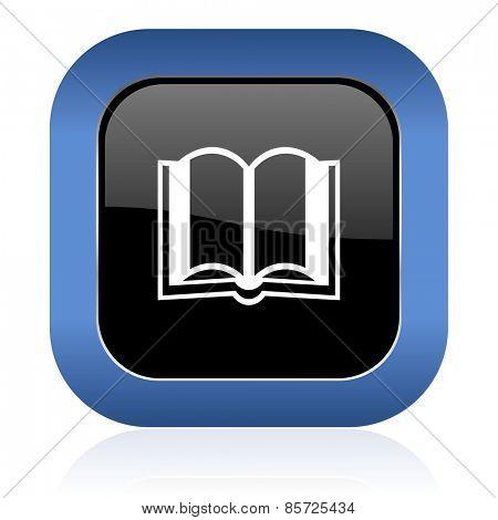 book square glossy icon