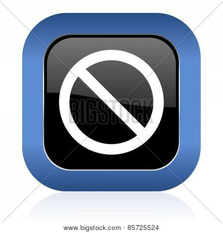 access denied square glossy icon