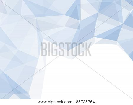 Light Blue Space Polygon Abstract Background
