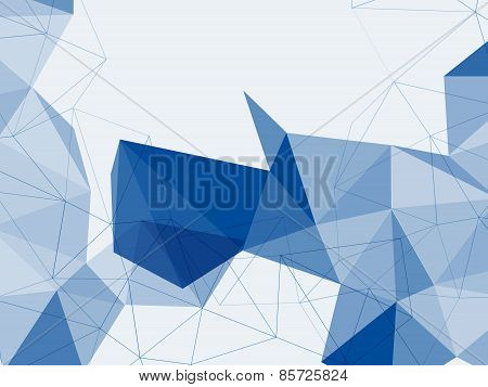 Abstract Background Of Dark Blue Geometric