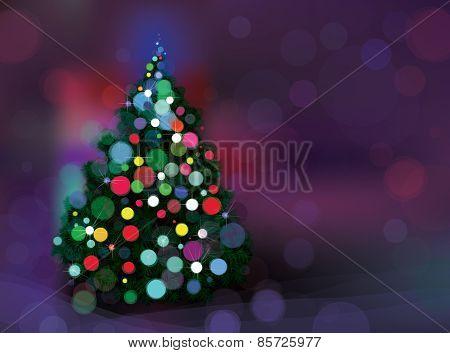 Vector abstract Christmas tree.