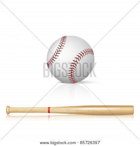 Baseball Bat And Baseball