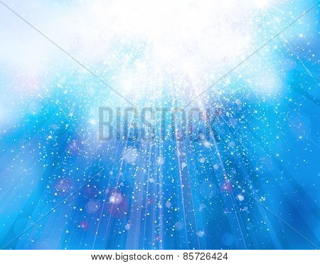 Sparkle blue background.