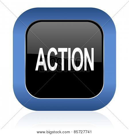 action square glossy icon