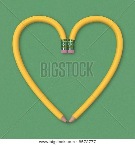 Bleistift-Herz