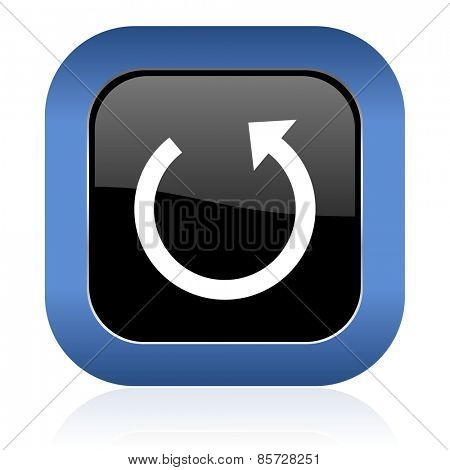 rotate square glossy icon reload sign