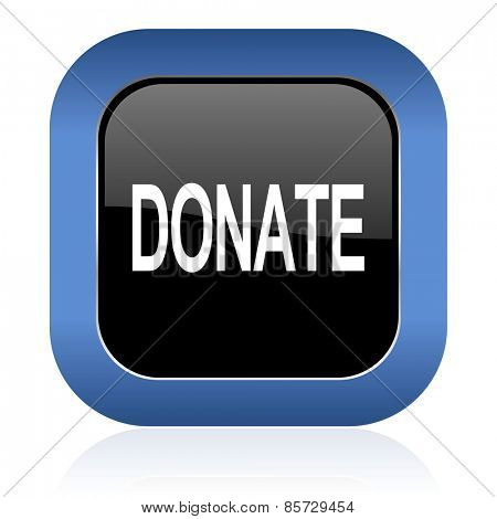 donate square glossy icon
