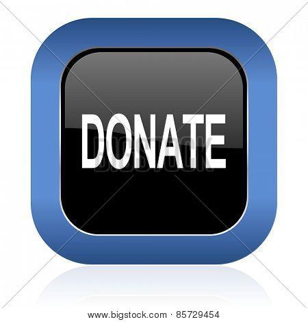 donate square glossy icon