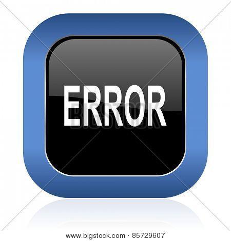 error square glossy icon