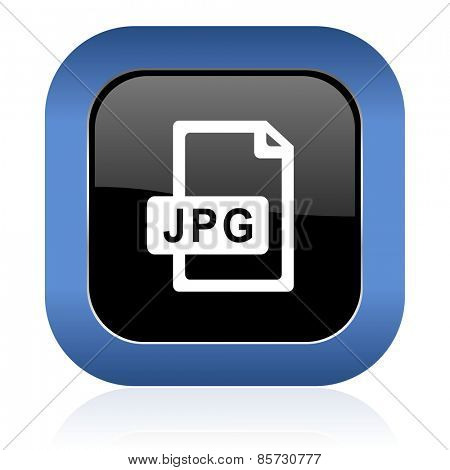 jpg file square glossy icon