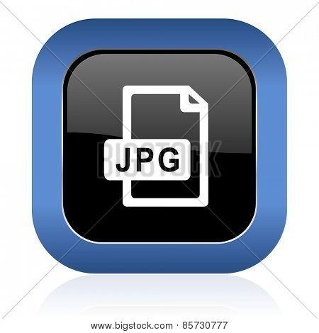jpg file square glossy icon