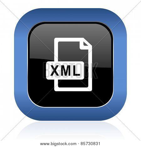 xml file square glossy icon