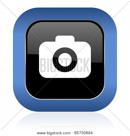 photo camera square glossy icon photography sign