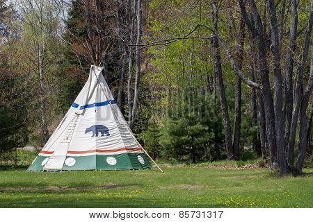 Tepee At Forest Edge