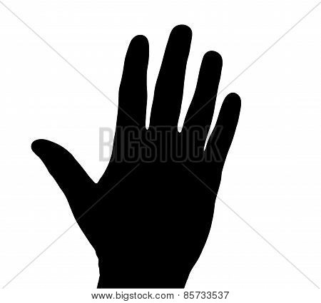 Black silhouette hand