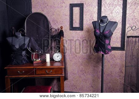 Vintage Boudoir Interior In Classic Style