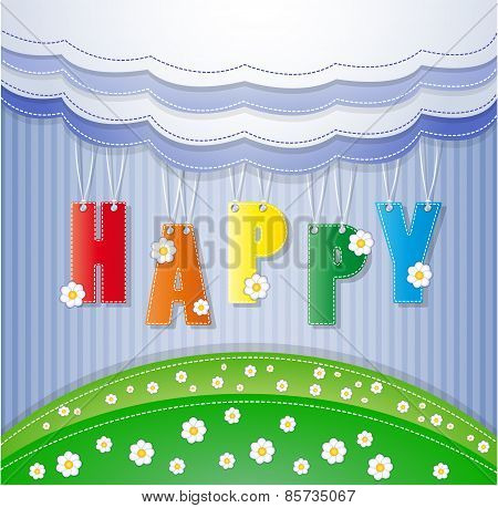 Colorful greeting card.