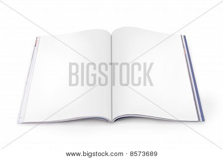 Open Magazin mit leeren Seiten