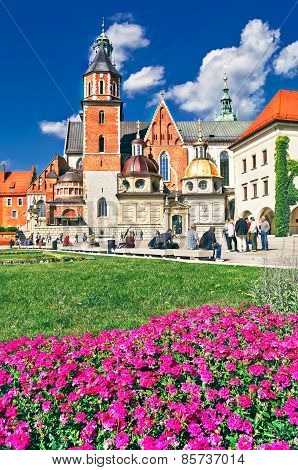 Wawel Cathedral On Wawel Hill In Krakow, Poland.
