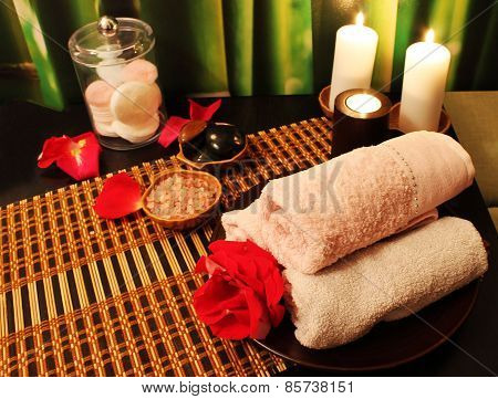 Spa Composition With Candles