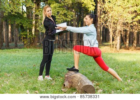 Personal Trainer And Fitness Women