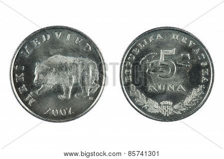 Croatia Coin On White