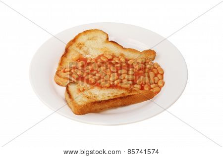 Baked Beans And Fried Bread
