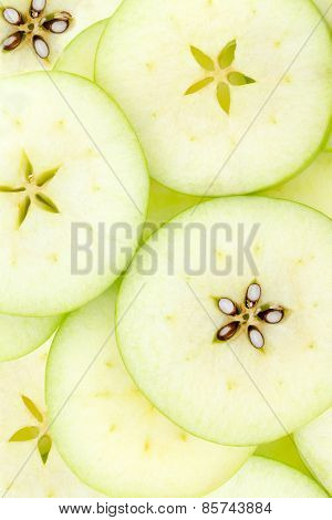 Conceptual Background Pattern And Texture Of Sliced Apples