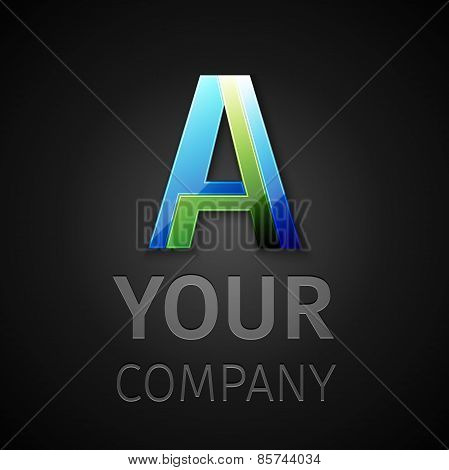 abstract vector logo letter A