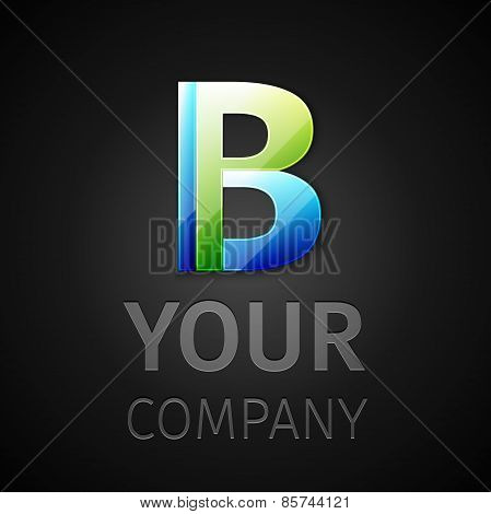 abstract vector logo letter B