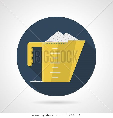 Flat color vector icon for measuring cup