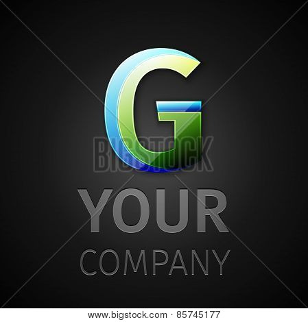 abstract vector logo letter G