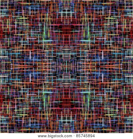 Multicolored Checkered Pattern As Abstract Background.