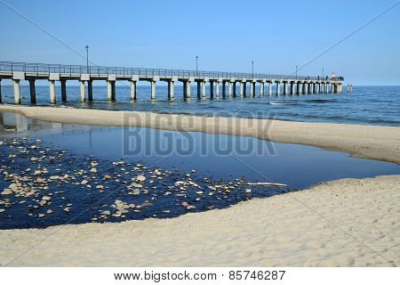 Sea Promenade. City-resort Pionersky, Kaliningrad Region, Russia