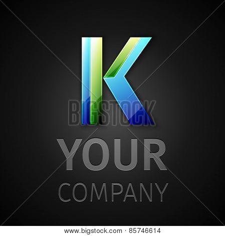 abstract vector logo letter K