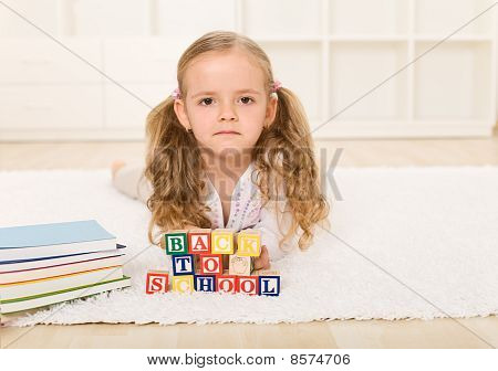 Little Girl Not Too Happy Going Back To School