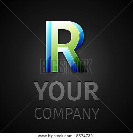 abstract vector logo letter R