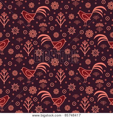 Seamless Pattern, Rooster