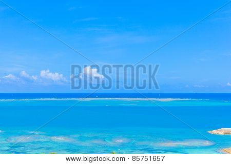 Clouds and blue ocean in Okinawa