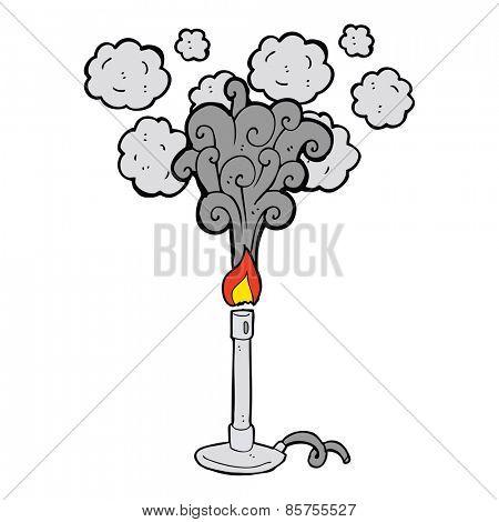 cartoon science bunsen burner