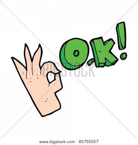 cartoon symbol for Okay