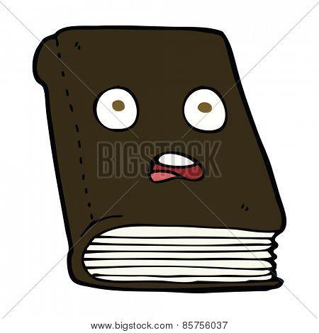 cartoon unhappy book