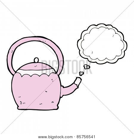 cartoon kettle boiling water