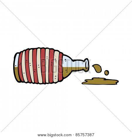 cartoon old rum bottle