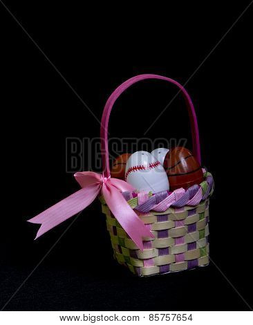 Side View Of Easter Egg Basket