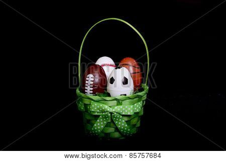 Easter Basket With Sport Eggs