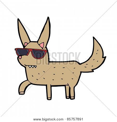 cartoon cool dog