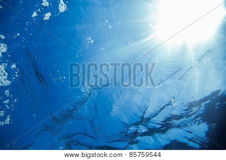 Abstract Underwater Sea Light Background