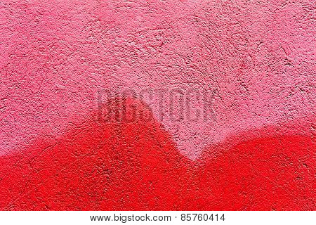 Creative Background With Beautiful Shades Of Red, Cracks And Scratches On The Concrete. Grungy Concr